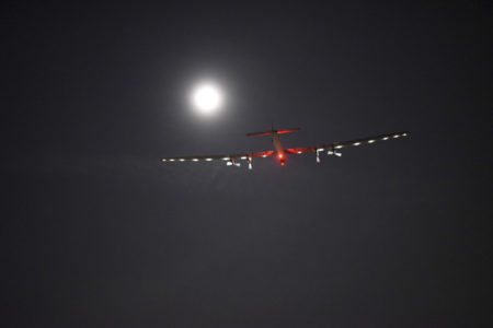 Solar Impulse takeoff from Dayton, Ohio, United States of America