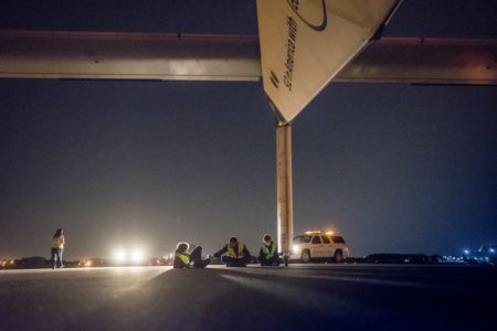 Solar Impulse takeoff from New York, United States of America