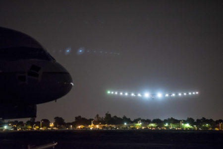 Solar Impulse Landing in Phoenix Goodyear