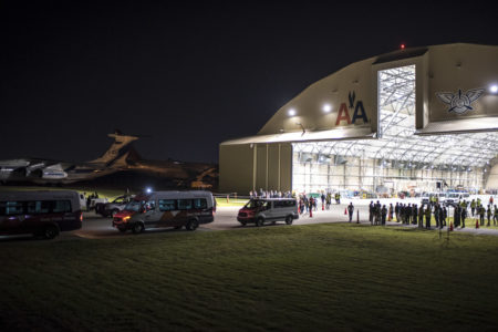Solar Impulse landing in Tulsa, Oklahoma, United States of America