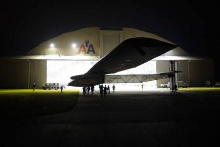 Solar Impulse takeoff from Tulsa, Oklahoma, United States of America